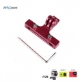 Proocam Pro-F178-RD Steel Aluminium Bicycle Saddle Clamp Mount for Gopro Hero (Red)